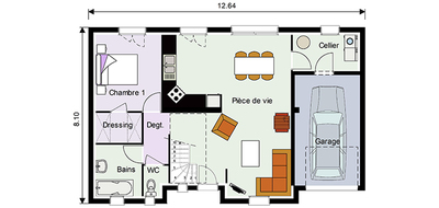 Plan maison pi ces mod le de maison brillance for Plan maison suite parentale rdc
