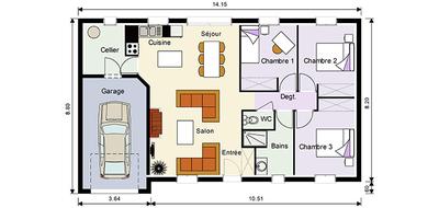 Plan maison pi ces mod le de maison primera maison dona for Pieces d une maison