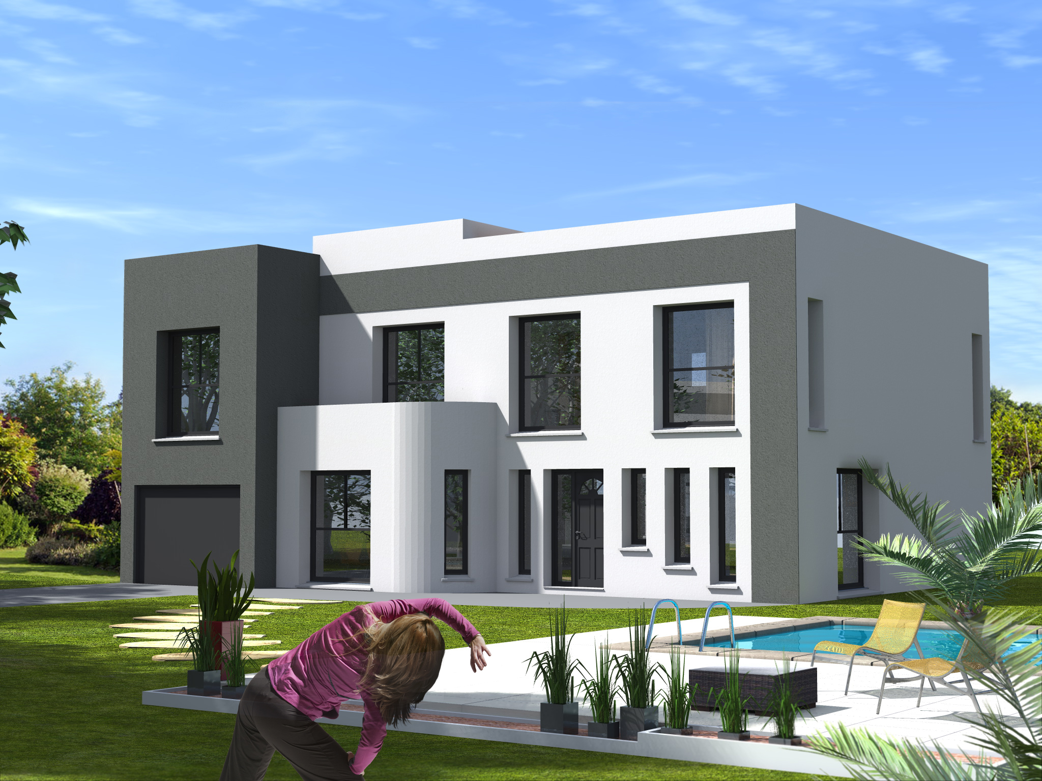 Plan maison pi ces mod le de maison miami maison dona for Construction maison originale