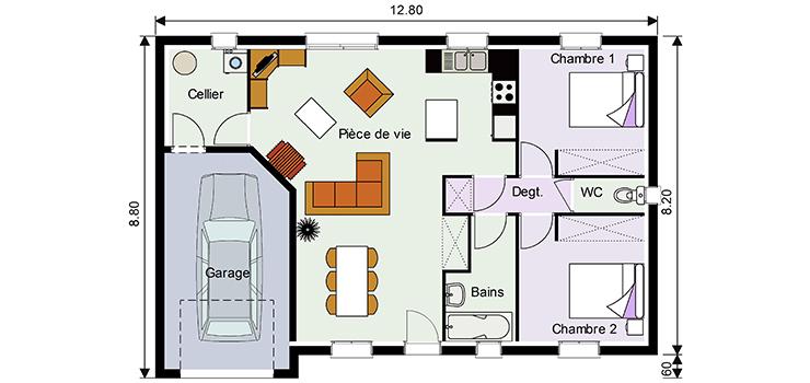 Plan Maison 50 M Avec Combles Ooreka
