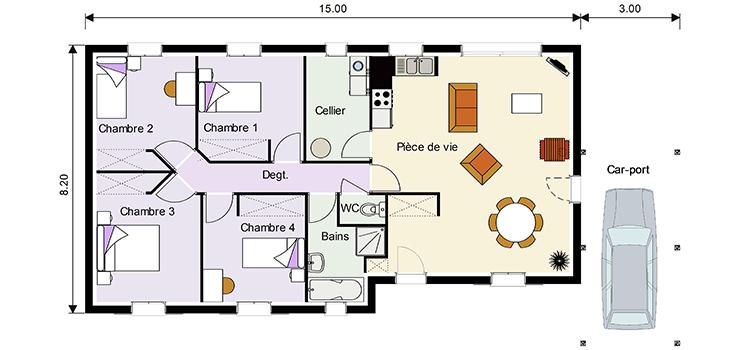 Plan De Maison Familiale Modele De Maison Diva Maison Dona